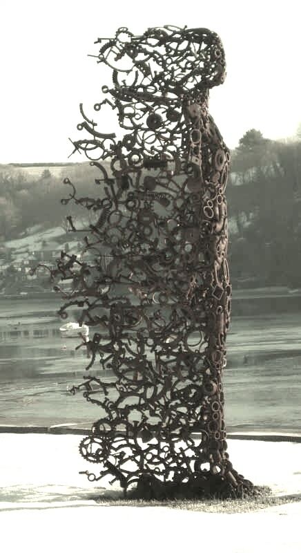 A great example of assemblage art. reminds me of the sculpture garden on whidbey island