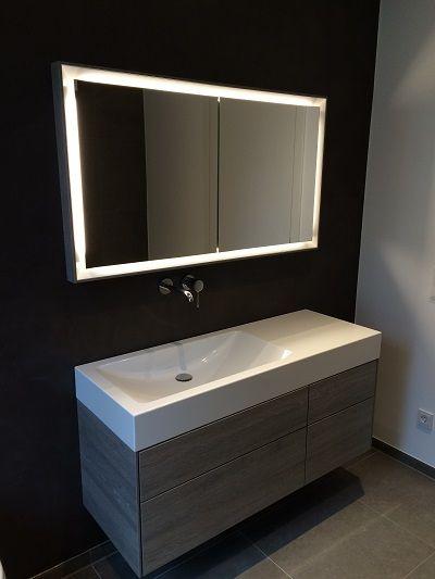 Badezimmer in Beton Ciré. Tolle Idee für das Bad. Die komplette Wand ...