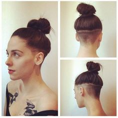 undercut long hair women - Google Search