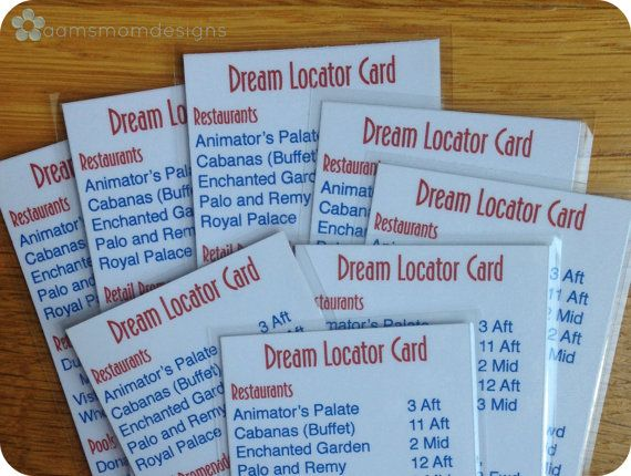 Disney Dream Ship Locator Bookmark Digital Download Disney