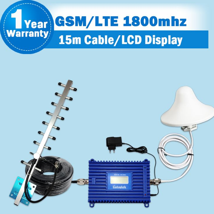 Complete Set GSM 1800 4G FDD LTE 1800 Cellular Repeater Mobile Signal Booster LCD Display 1800mhz ALC Function Phone Amplifier