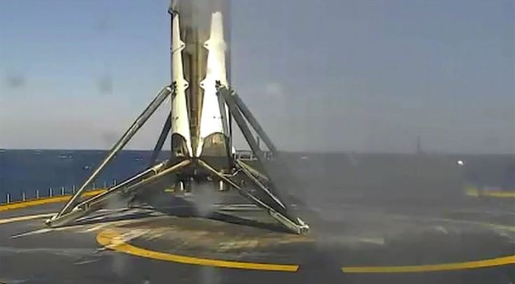 SpaceX landed rocket