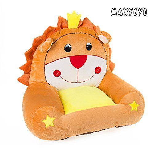 MAXYOYO Cute Lion Stuffed Plush Toy Bean Bag Chair,Cartoon Lion