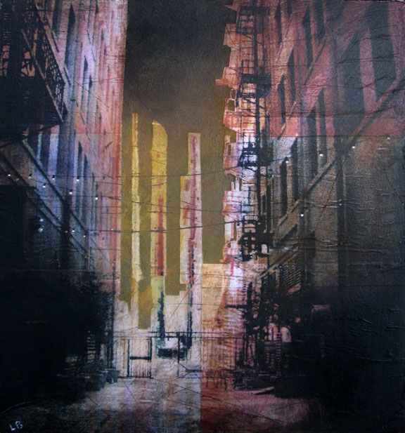 Urban Mixed Media Art by Liz Brizzi
