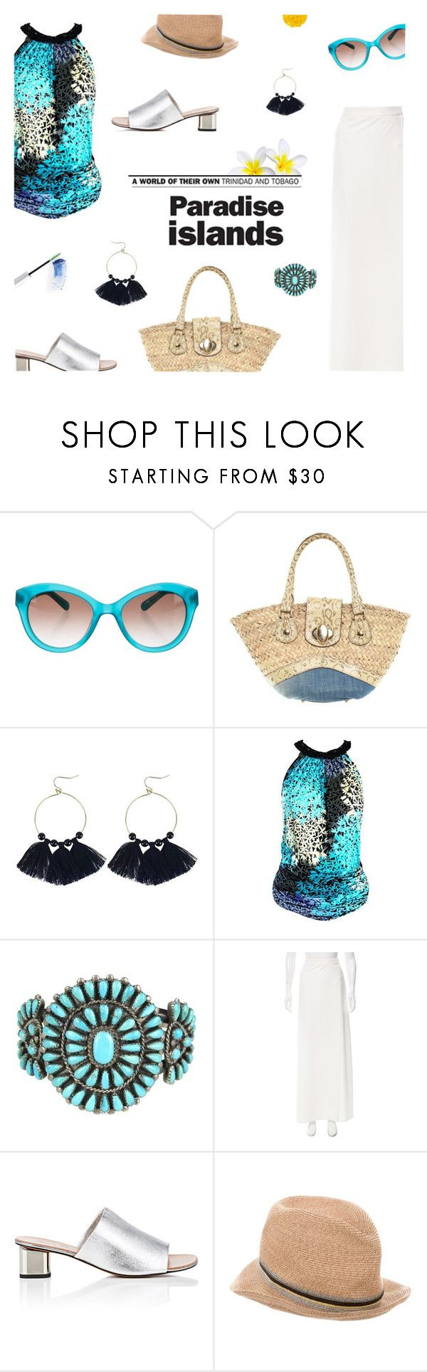 """""""Trinidad & Tobago"""" by maddophelia ❤ liked on Polyvore featuring Kate Spade, Dolce&Gabbana, Alessandro Dell'Acqua, Maison Margiela, Robert Clergerie, Eugenia Kim, W3LL People, Illamasqua and TropicalVacation"""