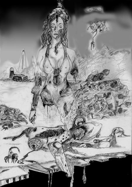 un dibujo como del 2000 o 2002, creo q la cague al retocarlo digitalmente xD