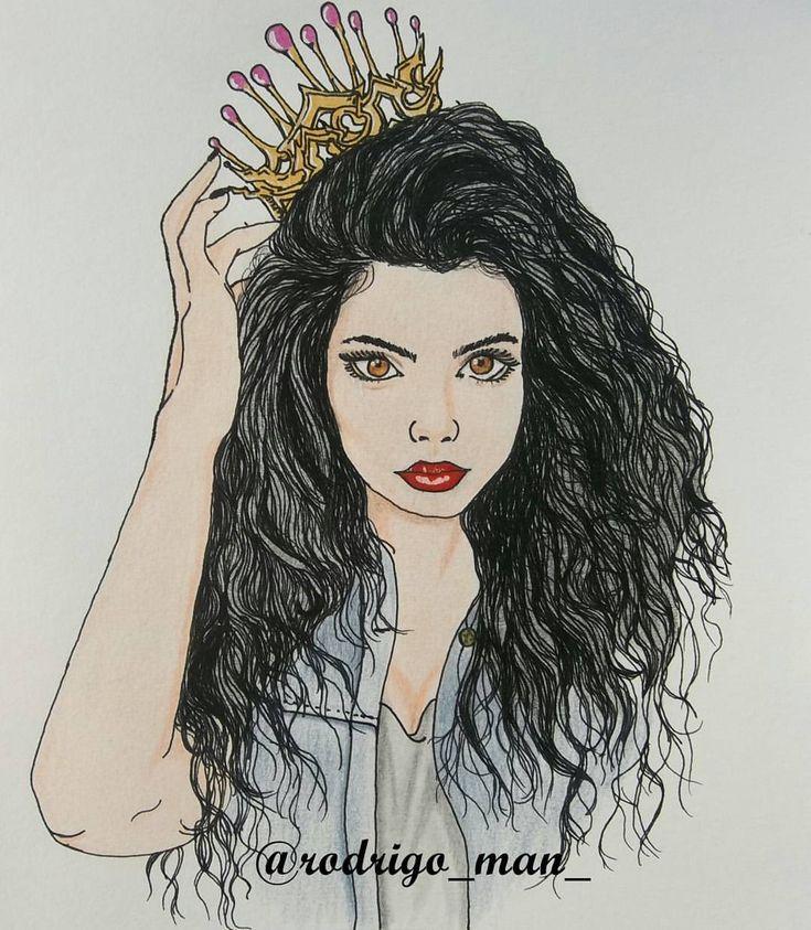 Demorei um pouco pra postar novos desenhos, pois estava praticando técnicas novas para o cabelo e pintura, espero que gostem. #ondulado #drawing #sketch #desenho #cachos #onduladas #king #queen #diva #cool #vintage #woman #cabelo #hair #style #art...