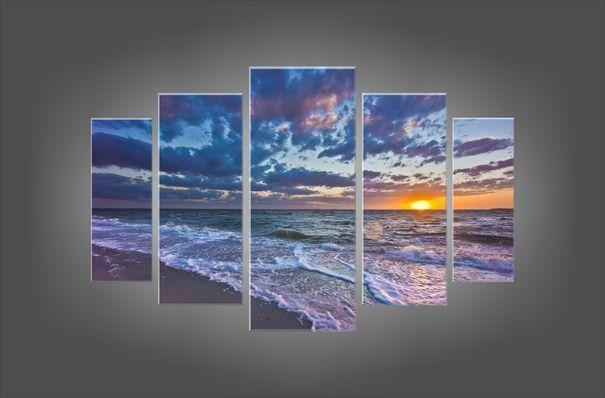 Модульная картина: Закат на океане