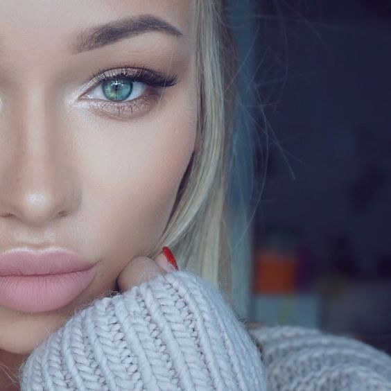 Amazing and natural makeup with pink lips 2018 - LadyStyle