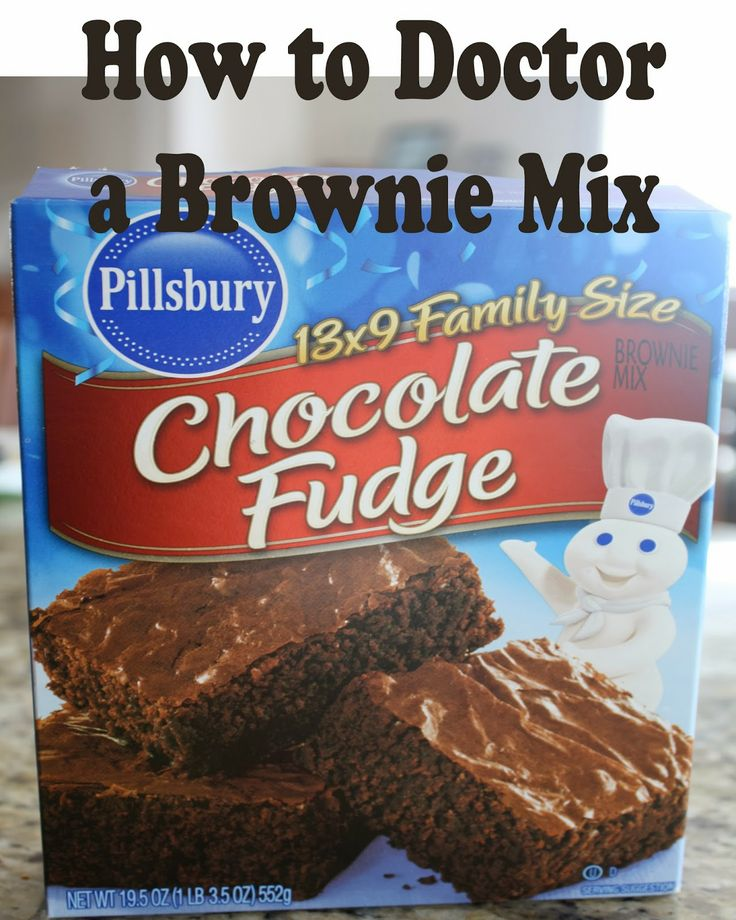 Cake Mix Doctor Brownies
