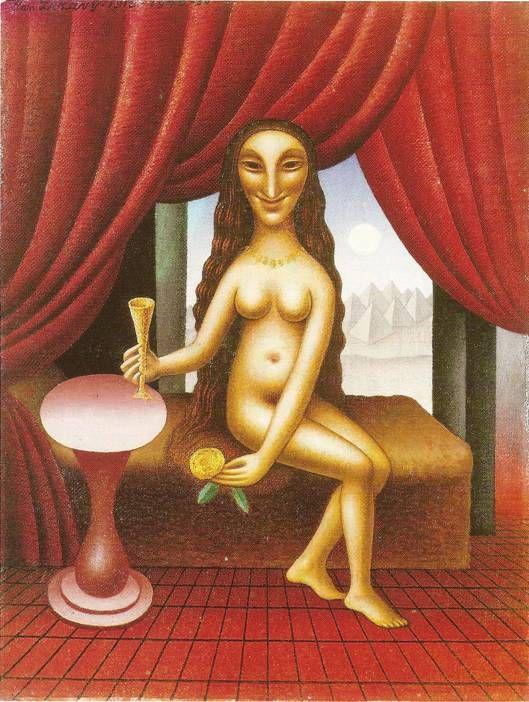 Zrzavý Jan: Kleopatra I., 1940 (podle kresby z roku 1912).
