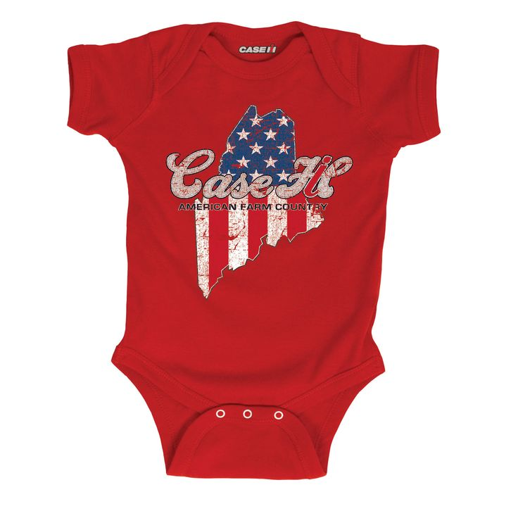 Case IH Country Patriotic Maine Infant One Piece