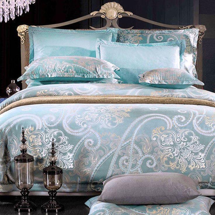 Luxury Light Green Doona Quilt Duvet Cover Set Double Queen King Super Size