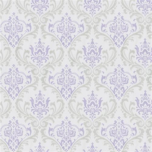 Lilac and silver gray damask fabric by the yard carousel for Grey nursery fabric