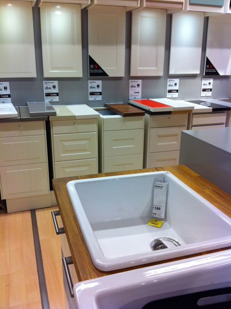 Perfect Single Bowl Porcelain Kitchen Sink, Formica Oriental Block At The Ikea  Tempe Showroom Good Looking