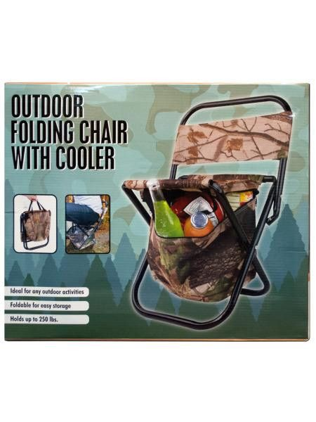 Outdoor Folding Chair with Cooler Bag (Available in a pack of 1)