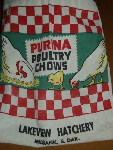 Antique Cloth Purina Poultry Hatchery Laundry Clothspin Bag Chicken Advertising | eBay
