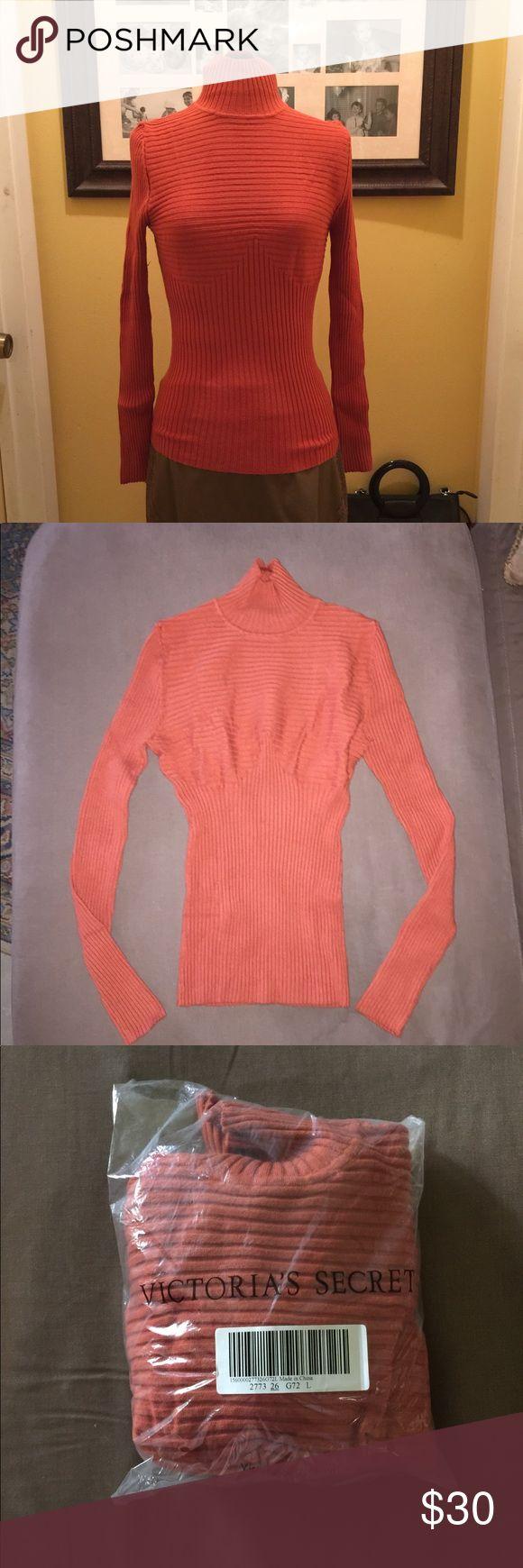 NWT VS Orange Turtleneck Sweater Sz L New in package orange turtleneck sweater from Victoria's Secret. Sz Large. Label states Moda International which is a manufacturer for VS. Victoria's Secret Sweaters Cowl & Turtlenecks