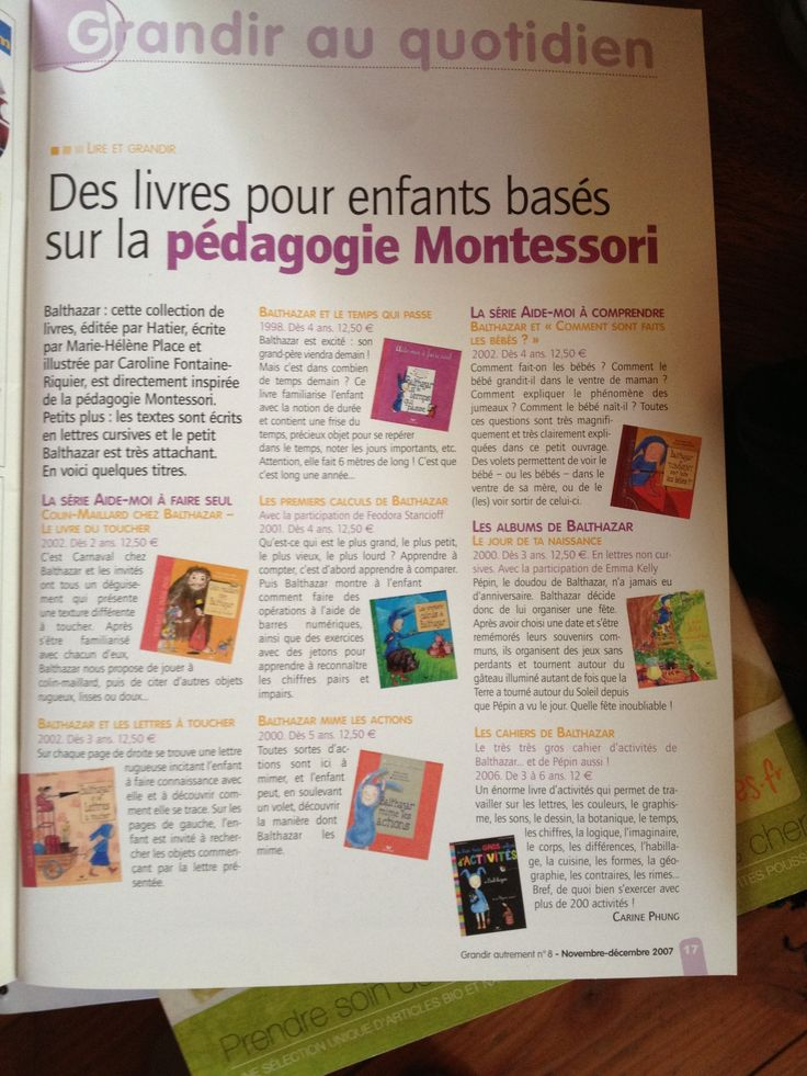 livres montessori  Enfants - Education Bienveillante Montessori Maternage Astuce Communication Parentalité positive non violente