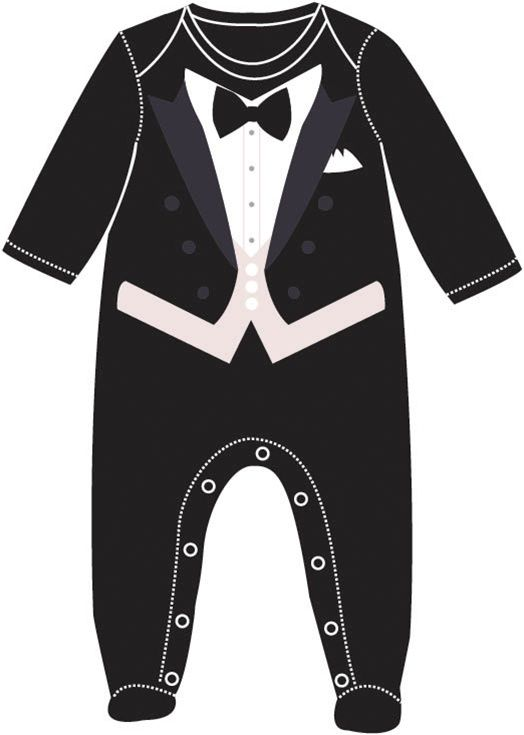 Wedding Tux Footsie by Sara Kety Baby & Kids.