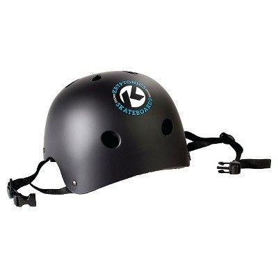 Kryptonics Skateboard 4-in-1 Skateboard Helmet and Pads Combo, Black/Grey
