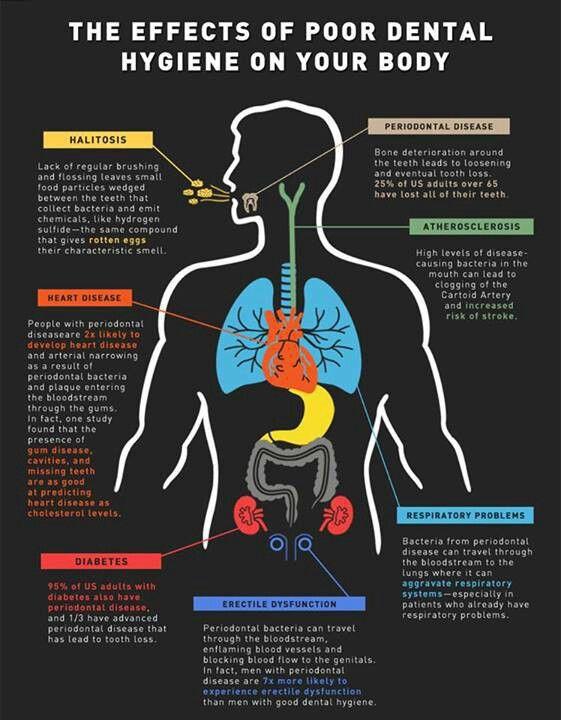 The effects of poor dental hygiene on your body  www.DentalAssistantStudy.com