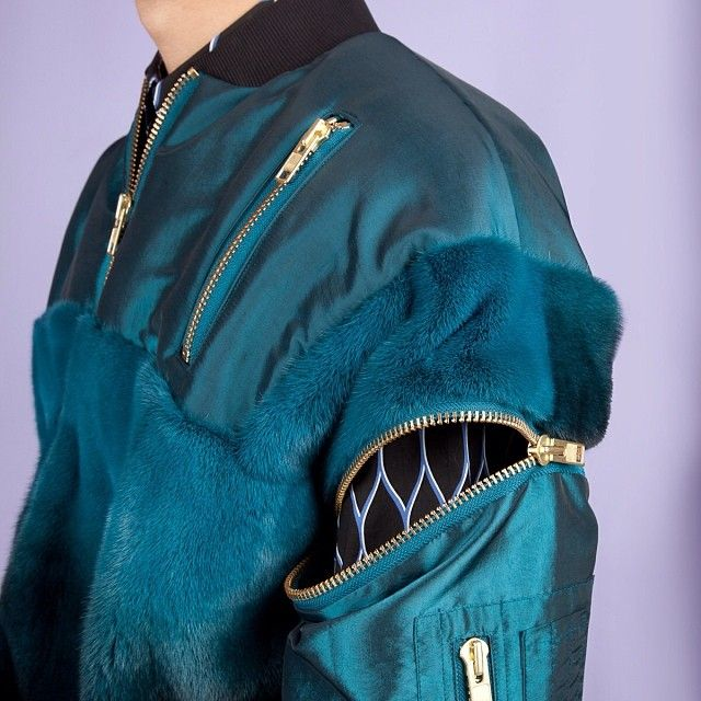 From the OC Instagram: All about this jewel-toned Astrid Andersen jacket, now in Opening Ceremony stores. Follow us @Opening Ceremony