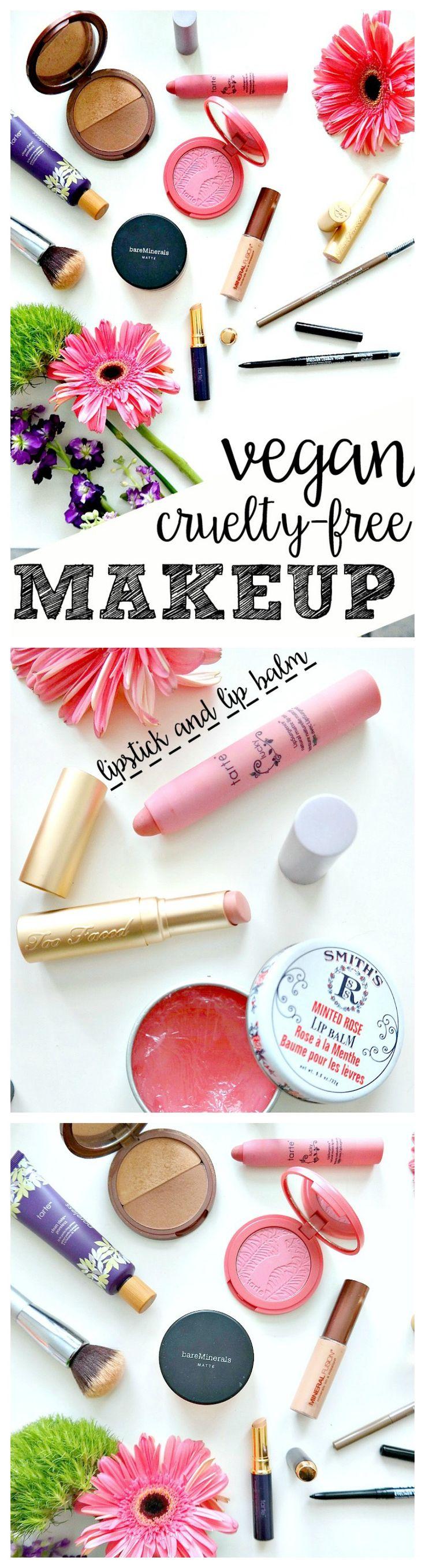 My Vegan & Cruelty Free Makeup Essentials. Primer, Concealer, Mineral Foundation & Powder, Mascara, Brows, Eyeliner, Lipsticks and more! From The Glowing Fridge. #vegan #crueltyfree #makeup