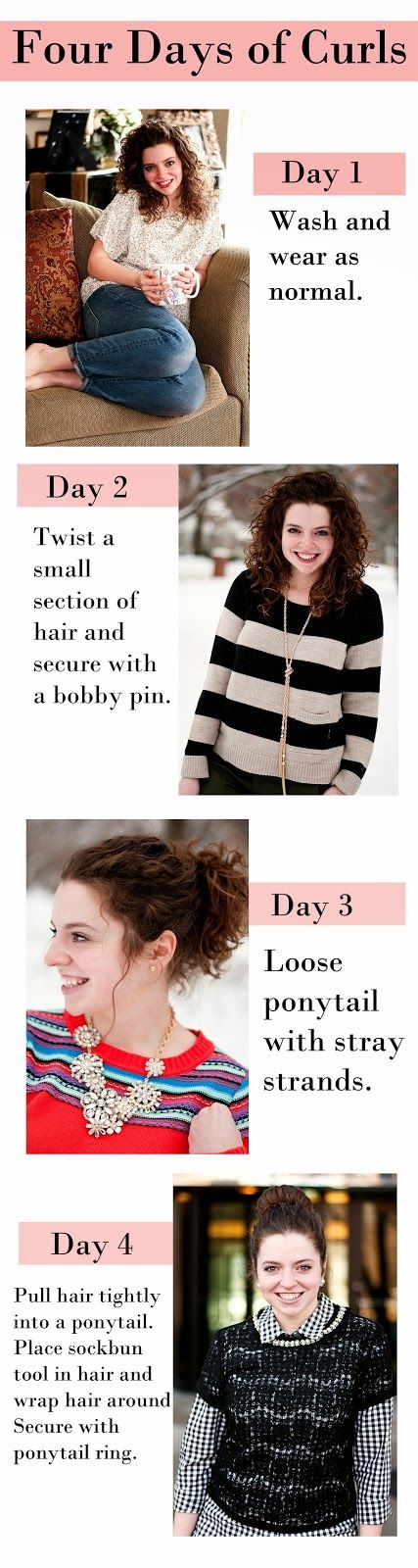 How I Mange My Curls// click for details-- would be great, except by day three I look like a ragged, matted mess.