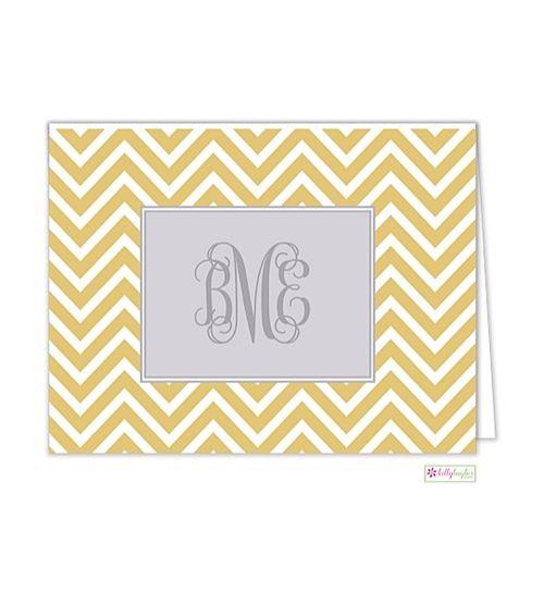 Gold Chevron Folded Note | La Lettera Boutique