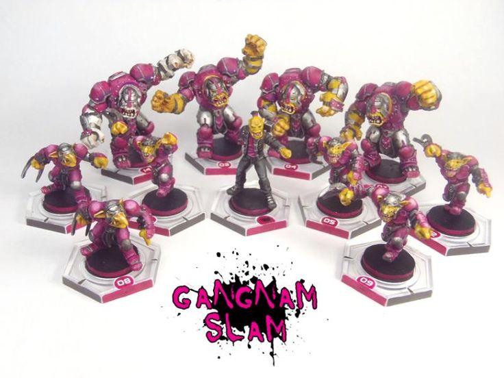Dreadball, Mantic, Marauders - Marauder Team - Gangnam Slam - Gallery - DakkaDakka   No assembly required.