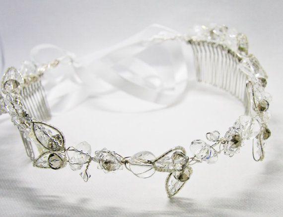 #Birdal Comb #Crystal headpiece #crystal tiara #tiara #headpiece #bridal headband #bridal tiara #bridal crown