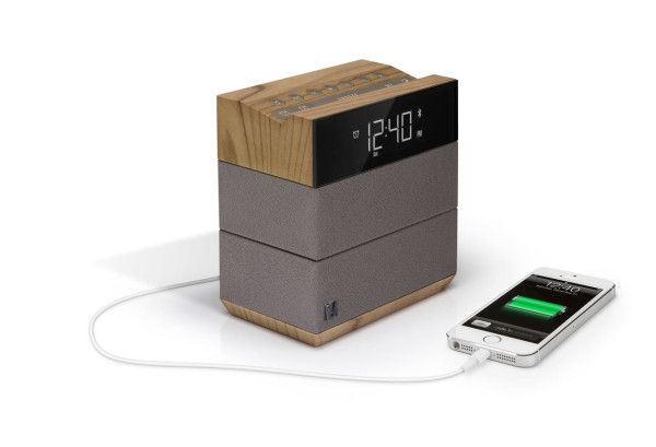 Sound Rise streams audio via Bluetooth and acts as a phone charger