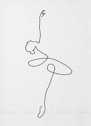 Conception mignonne pour mettre n'importe quoi pour un danseur. # Ballet # Inspiré # Cadeaux   – Lines drawings