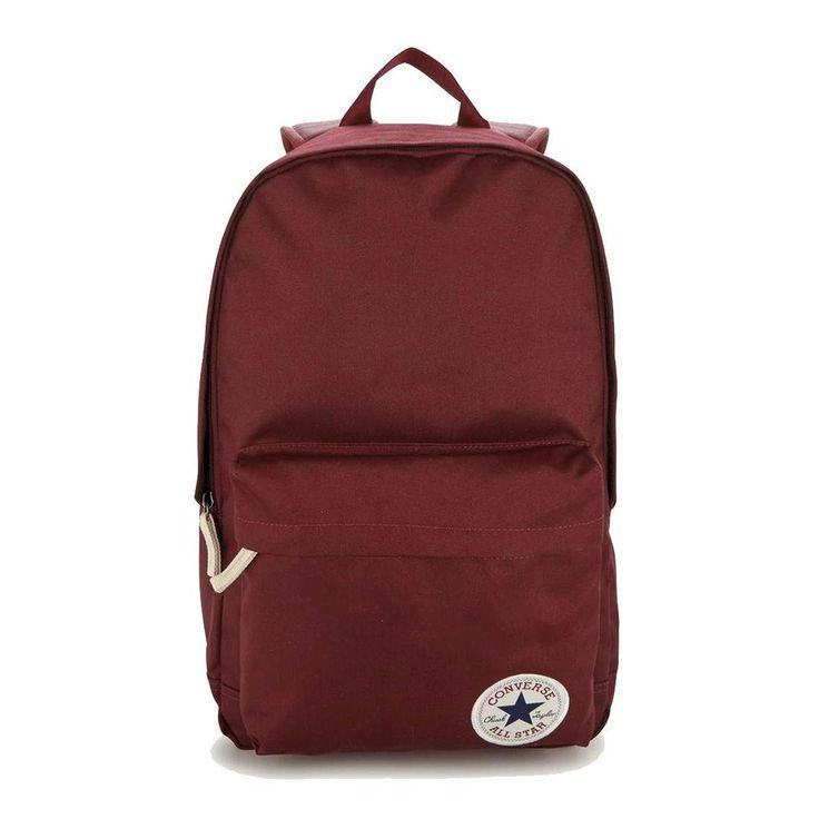 UNISEX CONVERSE Rucksack Core Poly ALL STAR Freizeit Reise Urlaub City-Rucksack Erwachsene Kinder Daypack Backpack Chuck Taylor Stern Tasche 25-29 Liter 10002651 Bordeaux 45x26x16 cm
