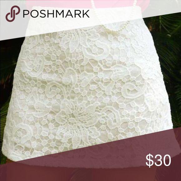 {Shop Hopes} Sequin Crochet Skirt Pencil skirt style, gorgeous Crotchet detailing with sequins. NWT Shop Hopes Skirts Mini