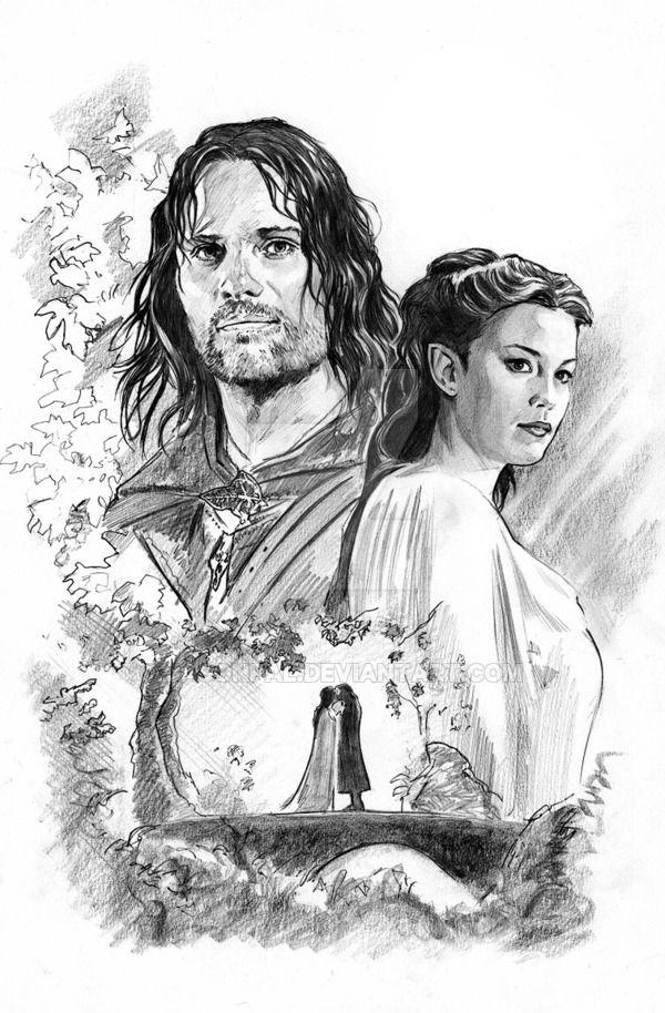 Aragorn and Arwen by jasonpal