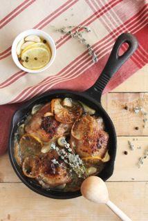 Gestoofde kip met knoflook, mandarijn, oregano en ovenaardappeltjes #gezond #kip #bio #food #haarlem