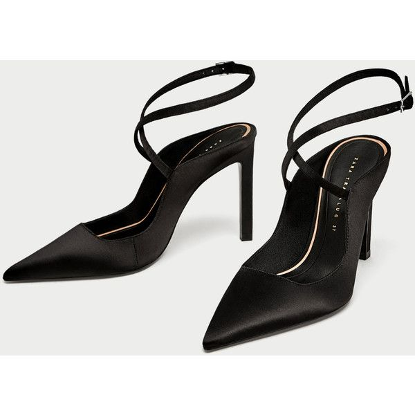 SLINGBACK HIGH HEEL SHOES - High-Heels-SHOES-WOMAN | ZARA Canada (1 065 UAH) ❤ liked on Polyvore featuring shoes, sandals, sling back sandals, high heeled footwear, sling back shoes, high heel slingback shoes and high heel shoes