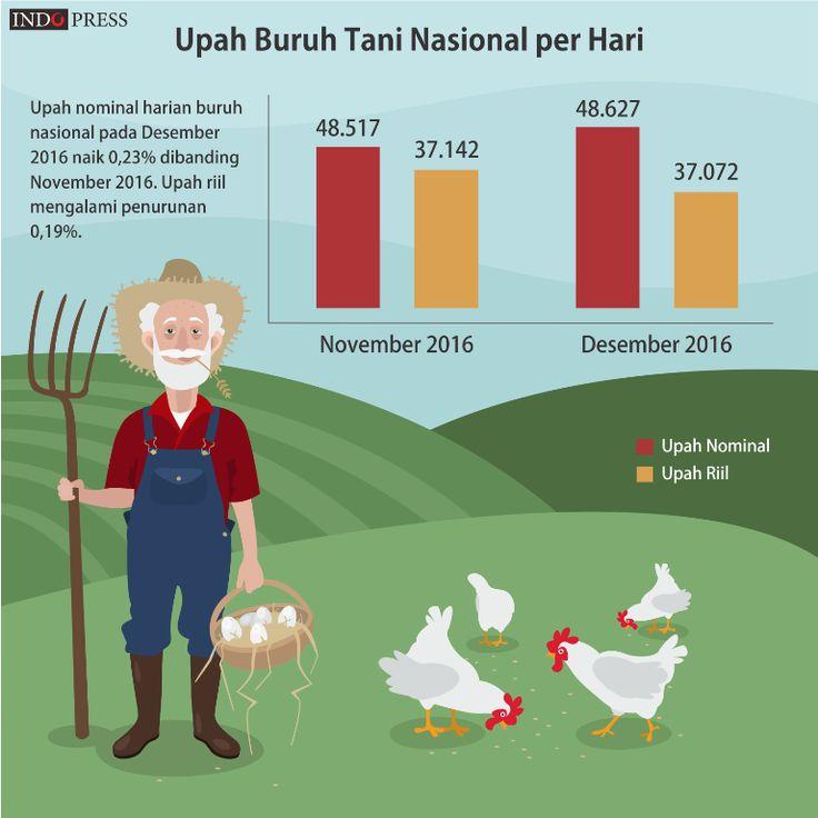 Infografis: Ini Upah Buruh Tani Akhir 2016 - IndoPress
