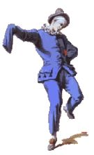 Pedrolino: Commedia dell'Arte Stock Character.  About.com has a nice little summary of stock characters of commedia dell'arte: http://italian.about.com/library/weekly/aa110800b.htm#