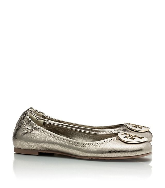 Metallic Reva Ballet Flat Size in Silver