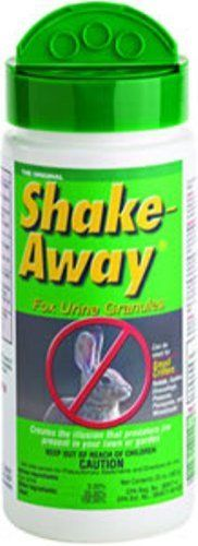 Shake Away 8004520 20 ounces Small Critter Repellent Fox Urine Granules. You can buy this at Lowes or on amazon.com. Keep squirrels and rabbits out of your flower and vegetable gardens
