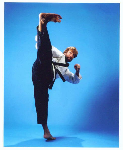 Chuck Norris,Creator of Chun Kuk Do, 9th degree black belt Tang Soo Do, 8th degree black belt Taekwondo, black belt in Brazilian Jiu-Jitsu and Judo