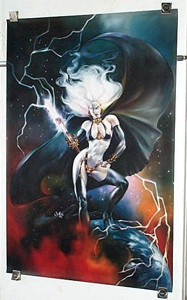 Sexy vintage original 1995 Chaos Comics 36 x 24 inch Lady Death gothic horror comic book poster 2: Hot goth girl pin-up/Art by Julie Bell