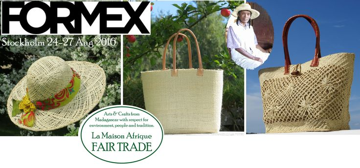 Formex Stockholm 24-27 aug 2016 Welcome to La Maison Afrique FAIR TRADE stand. #FORMEX