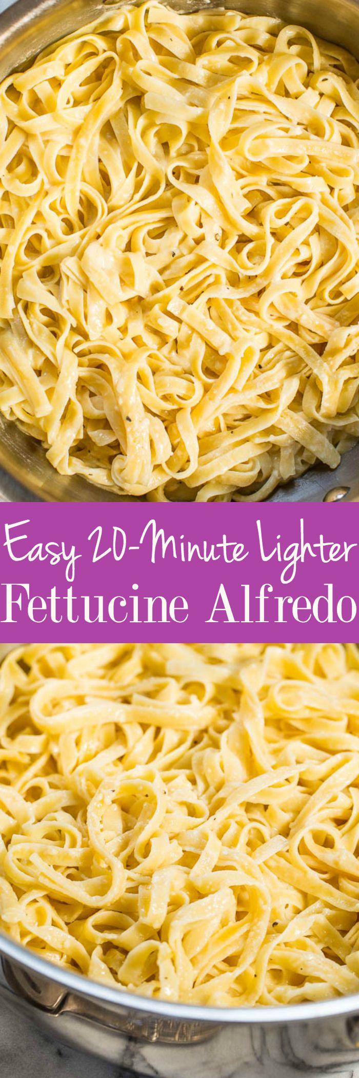 Easy 20-Minute Lighter Fettucine Alfredo