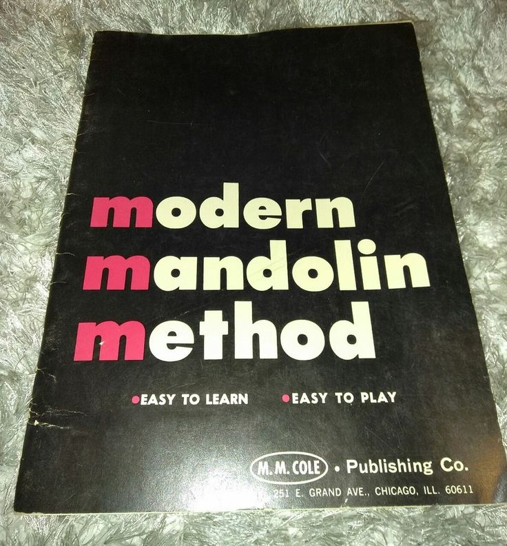Modern Mandolin Method from M.M. Cole Publishing Co | Musical Instruments & Gear, Sheet Music & Song Books, Vintage & Antique | eBay!