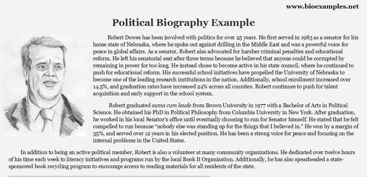 Political Biography Example Bio Examples Best