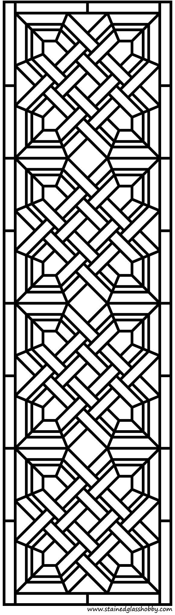 Design do painel de porta de vidro manchado